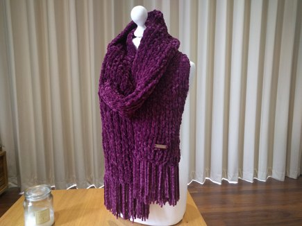 Chunky Chenille Scarf Knitting Project By Rabbitandwool Loveknitting
