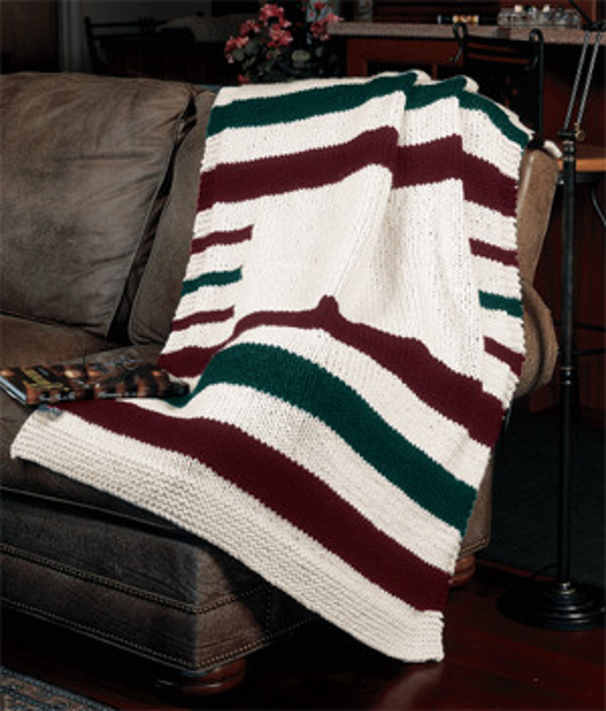 Knitted hudson bay blanket in lion brand wool ease thick quick knitted hudson bay blanket in lion brand wool ease thick quick 857 knitting patterns loveknitting bankloansurffo Image collections