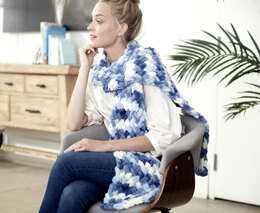 Criss Cross Scarf in Bernat Alize Blanket-EZ - Downloadable PDF