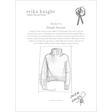 Simple Sweater in Erika Knight Maxi Wool