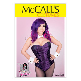 McCall's Misses' Bodysuit Corset, Collar, Cuffs and Tail M7398 - Sewing Pattern