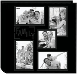 "Pioneer 5-Up Sewn Embossed Collage Frame Photo Album 12""X12"" - Family"