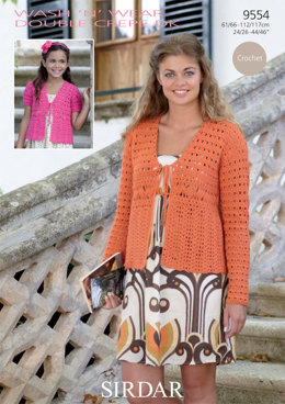 Cardigans in Sirdar Wash 'n' Wear Double Crepe DK - 9554