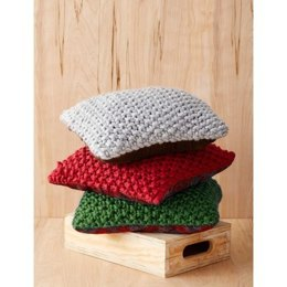 Perfect Christmas Pillows in Bernat Mega Bulky