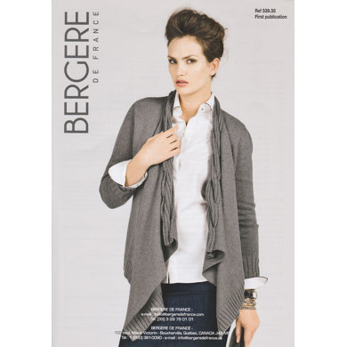 Cardigan with Cable Collar Bergere de France Cachemire - 33935