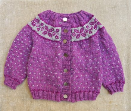 Fair Isle Girl's Cardigan (with steeks) knitting project by ...