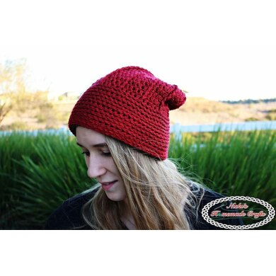 Reversible Textured Slouchy Beanie