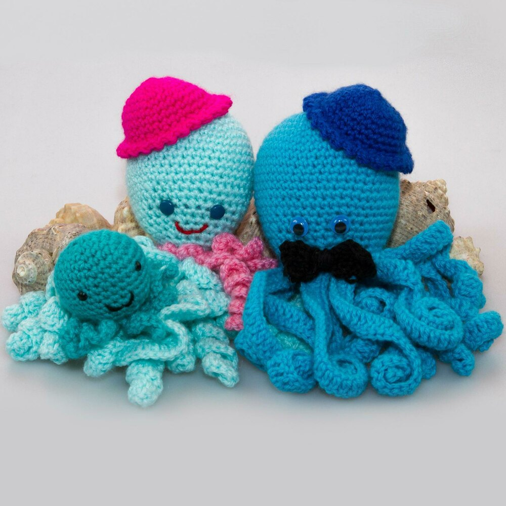 Octopus family amigurumi Crochet pattern by PointelleShop 32e9a81c240b