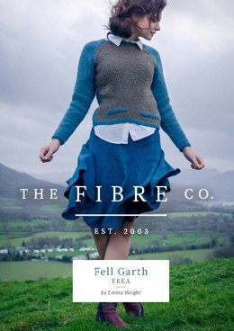 Erea Woven Slip Stitch Raglan Jumper in The Fibre Co. Cumbria - Downloadable PDF