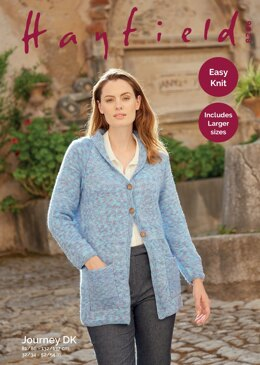 Long Line Coat in Hayfield Journey DK - 8266 - Downloadable PDF