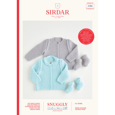 Cardigan & Booties in Sirdar Snuggly Cashmere Merino Silk DK - SSCM5386 - Downloadable PDF