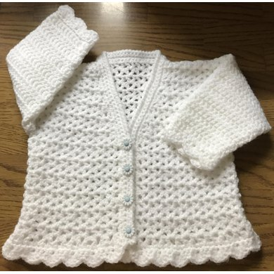 DK Crochet Pattern For Baby/Child Cardigan For Birth to 6 years (1013)