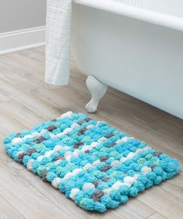 Luxurious Bath Rug in Red Heart Pomp-a-Doodle- LM5997