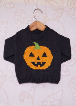 Intarsia - Pumpkin Chart - Childrens Sweater