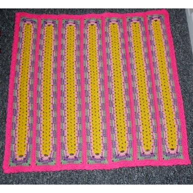 Bright and Busy Baby Blanket
