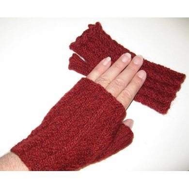 Just the Right Twist, Tam and Fingerless Gloves
