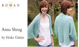 Anna Shrug in Rowan Cotton Glace