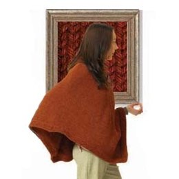 Split Collar Poncho in Lion Brand Wool-Ease Chunky - 40530-WE