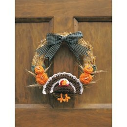 Happy Thanksgiving Wreath in Lily Sugar 'n Cream Solids