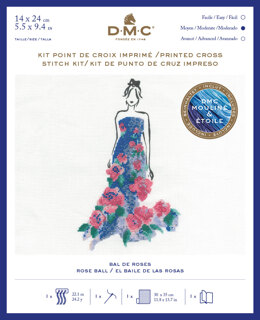 DMC Rose Ball (includes Étoile) Cross Stitch Kit - 14cm x 24cm - BK1793
