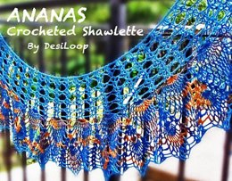 Ananas Crocheted Shawlette