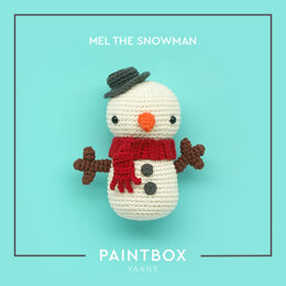 Mel the Snowman - Free Toy Crochet Pattern For Christmas in Paintbox Yarns Cotton Aran by Paintbox Yarns