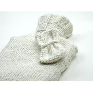 Sweet Bow Hot Water Bottle Cover