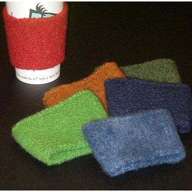 Felted Coffee Cozies