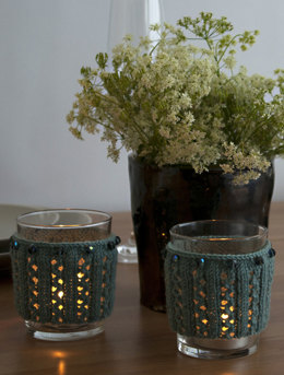 Beaded Tealight Covers in Debbie Bliss Rialto 4 Ply