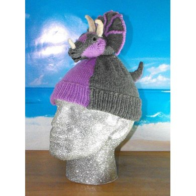 TRACY TRICERATOPS BEANIE HAT KNITTING PATTERN