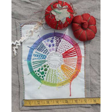 Dropcloth Samplers Color Wheel Embroidery Kit - 7in x 9in