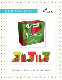 Riley Blake Christmas Table Runner - Downloadable PDF