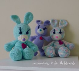 Amigurumi Rabbit Bunny Toy Doll Bunnies