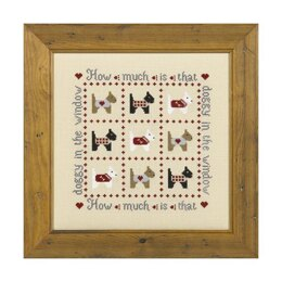 Historical Sampler Company How Much is that Doggy Cross Stitch Kit - 16ct Aida