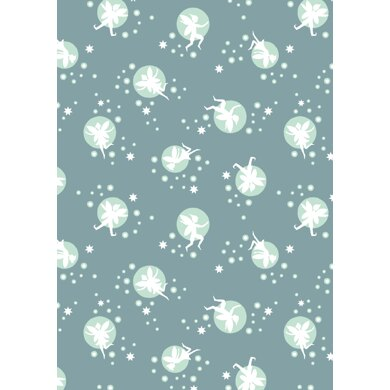 Lewis & Irene Fairy Lights -Fairies on Dusky Green Cut to Length