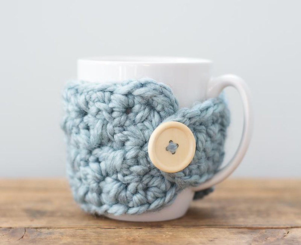 Chunky Mug Cozy Crochet Pattern By Lisa Charbonneau