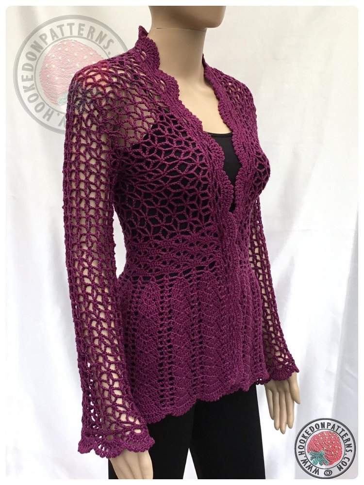 Flory Lace Cardigan Crochet Pattern By Hooked On Patterns