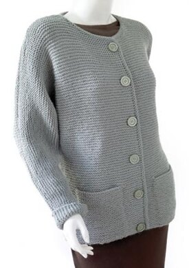 Knit Oh-So-Simple Cardigan in Lion Brand Wool-Ease ...