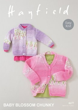 Cardigans in Hayfield Baby Blossom - 4677 - Downloadable PDF