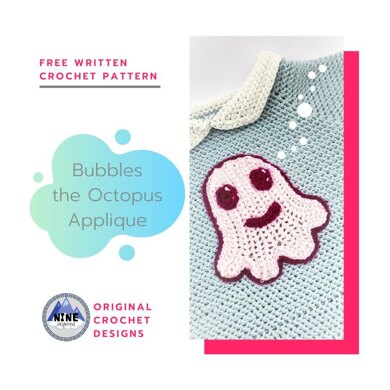 Bubbles the Octopus Applique