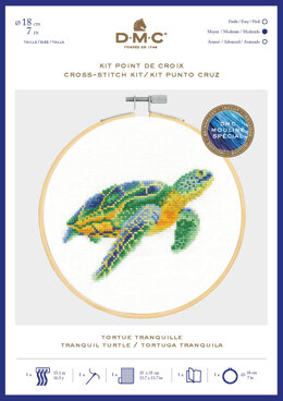 DMC Tranquil Turtle (with 7in hoop) - 7in