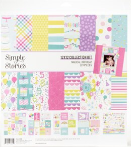 """Simple Stories Collection Kit 12""""X12"""" - Magical Birthday"""