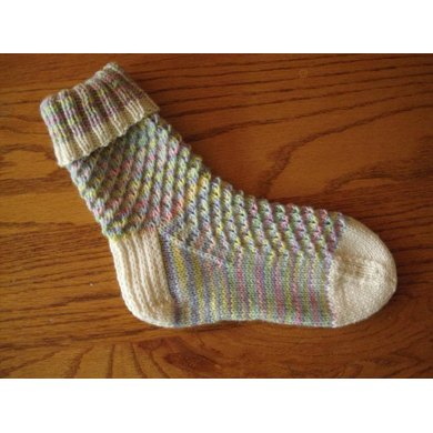 Rippled Boot Socks Knitting Pattern By Phyll Lagerman Knitting