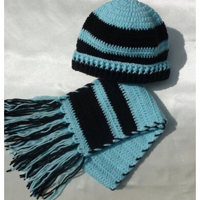 Crochet Baby Beanie Hat and Scarf