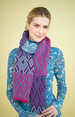 Shadows and Light Scarf in Lion Brand Cotton-Ease - 90634AD