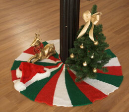 Tree Skirt in Plymouth Yarn Holiday Lights - 2518 - Downloadable PDF
