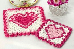 Wiggly Valentine Hot Pad and Coaster