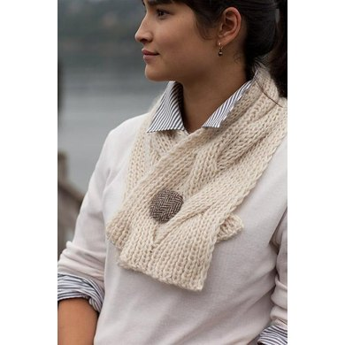 Reversible Cable Neck Wrap & Scarf