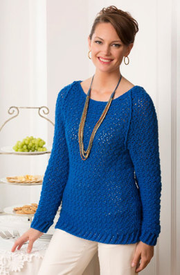 Holiday Sparkle Sweater in Red Heart Shimmer Solids - LW3763 - Downloadable PDF