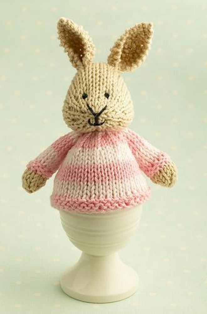 Bunny egg cosy Knitting pattern by Julie Williams